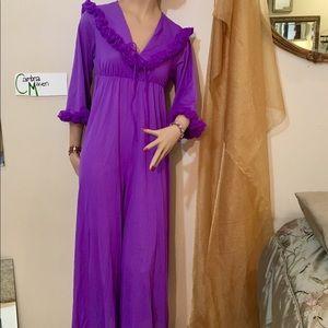 Dresses & Skirts - Purple hostess jumpsuit vintage & petite